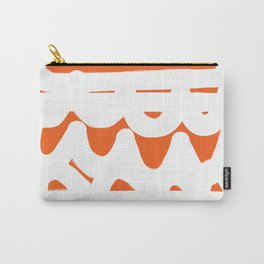 Orange and White Abstract Pattern Carry-All Pouch