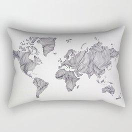 Whimsical Topography World Map Art Rectangular Pillow