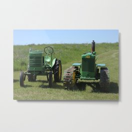 Antique Tractors Metal Print
