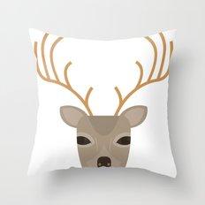 deerhead Throw Pillow