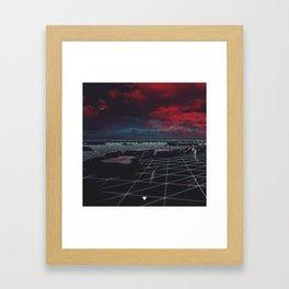 MOON GRID ∀ Framed Art Print