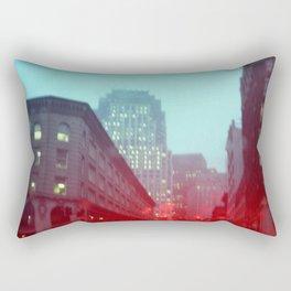 Foggy Boston Landscape  Rectangular Pillow