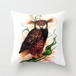 Sunset owl Throw Pillow