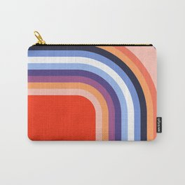 70s Stripes Rainbow 2 Carry-All Pouch