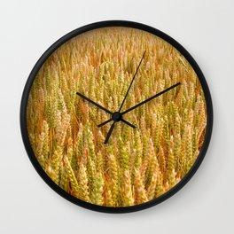 Golden Wheat Field Wall Clock