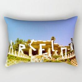 Barcelona city Rectangular Pillow
