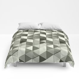 Cool Grayscale triangles geometric pattern Comforters