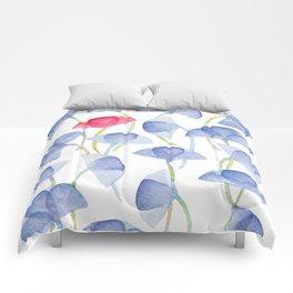 Violets flover, watercolor pattern Comforters