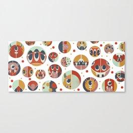 Monster dots Canvas Print