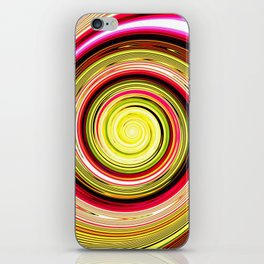 Re-Created Spin Painting (Yellow & Maroon) iPhone Skin