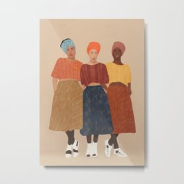Women with the Turbans II Metal Print