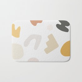 Abstract Shape Series - Autumn Color Study Bath Mat