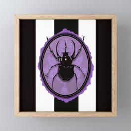 Juicy Beetle PURPLE Framed Mini Art Print