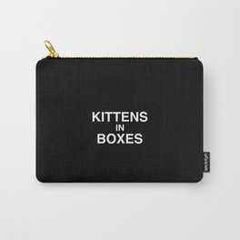 Kittens in Boxes - Black Carry-All Pouch