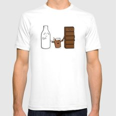 Milk + Chocolate Mens Fitted Tee SMALL White