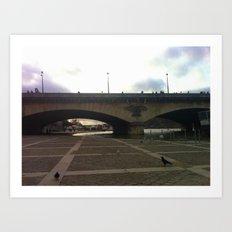 Paris: Bridge over the Seine Art Print