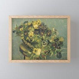 Basket of Pansies by Vincent van Gogh Framed Mini Art Print