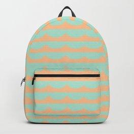 Peach Scallops Backpack