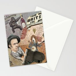 Tom Waits' Melodramatic Nocturnal Scene Stationery Cards