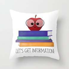 Let's Get Information! Throw Pillow