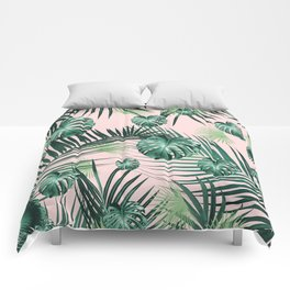Tropical Jungle Leaves Garden #2 #tropical #decor #art #society6 Comforters