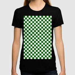Small Checkered - White and Dark Green T-shirt