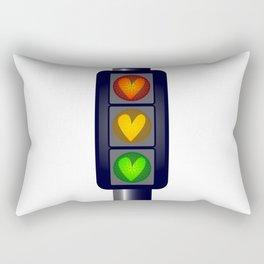 Love Heart Traffic Lights Rectangular Pillow