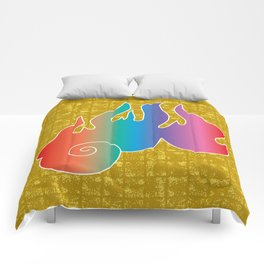 Flame of God's Wrath on Gold-leaf Screen Comforters