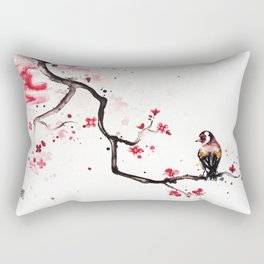 """The tiny wings """"The goldfinch"""" Rectangular Pillow"""