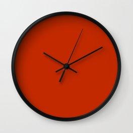 Burnt Sienna Wall Clock