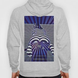2519s-JPC Blue Striped Nude Woman From Behind Hoody
