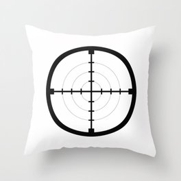 sniper black finder target symbol bull eye Throw Pillow