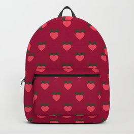 Strawberry Pink Love Hearts & Love Birds Backpack