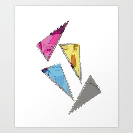 David Bowie inQuadri Art Print