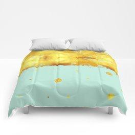 Gold Leaf on Mint Comforters