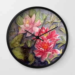 Quiet pond Wall Clock