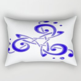 Treble Triskele Rectangular Pillow
