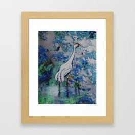 """Crane"" Framed Art Print"