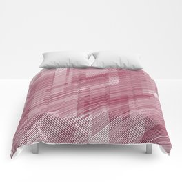 The Red Hash - Geometric Pattern Comforters