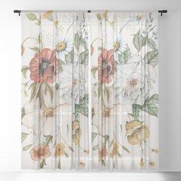 Wildflower Bouquet Sheer Curtain