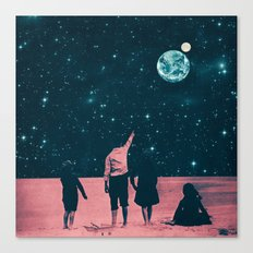 Once Upon A Time on Mars or Children of Mars Canvas Print