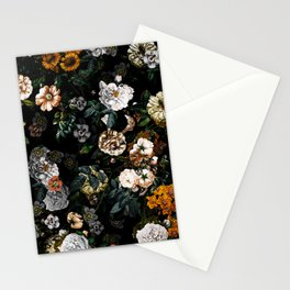 Floral Night Garden Stationery Cards