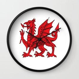 The Red Dragon or Y Ddraig Goch Isolated Wall Clock