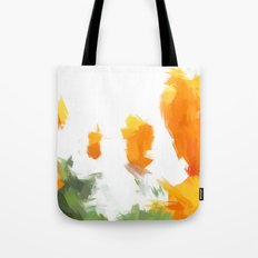 BLOSSOMS - ORANGE GREEN Tote Bag