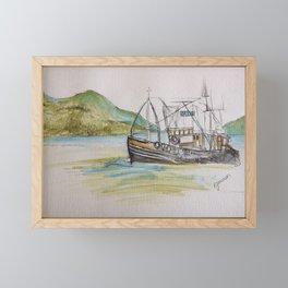 Boat on Loch Ness Framed Mini Art Print