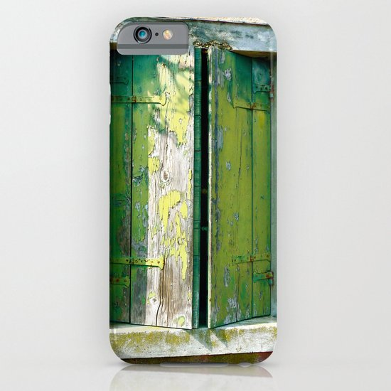 Old green window iPhone & iPod Case