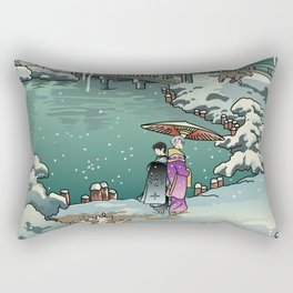 Ukiyo-e: Yuri on Ice Rectangular Pillow