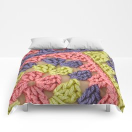 Bright Colored Granny Squares Comforters