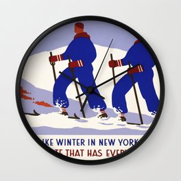 Vintage poster - New York Wall Clock
