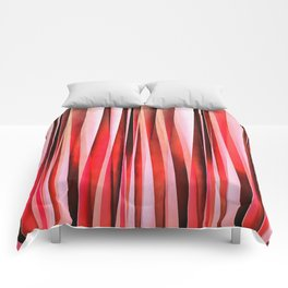 Red Adventure Striped Abstract Pattern Comforters